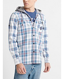 Men's Denim Goods Hooded Shirt