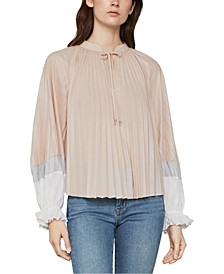 Colorblocked Pleated Top