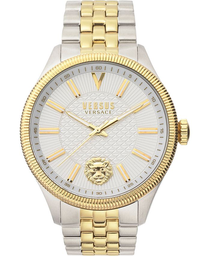 Versus by Versace - Men's Colonne Two-Tone Stainless Steel Bracelet Watch 45mm