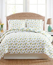 Lemon Floral Full/Queen 3PC Comforter Set