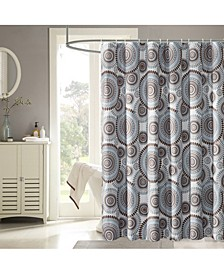 Starburst Shower Curtain with 12 Rings