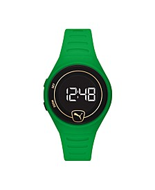 Forever Faster LCD Green Polyurethane Watch 42mm