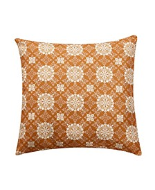 Mandala Lattice Decorative Pillow, 18 x 18