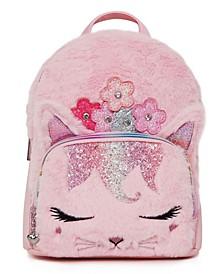 Big Girls Bella Kitty Plush Mini Backpack