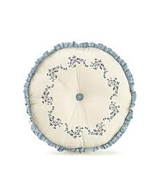 "Charlotte 14"" Round Decorative Pillow"