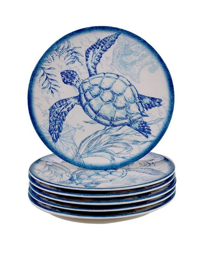 Certified International Oceanic Melamine 6-Pc. Salad Plates