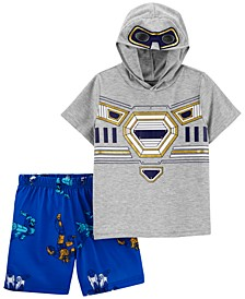 Toddler Boys 2-Pc. Robot Pajamas Set
