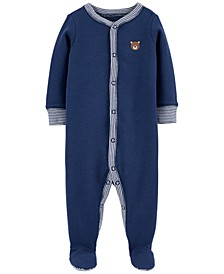 Baby Boys 1-Pc. Bear Cotton Coverall