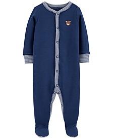 Baby Boys 1-Pc. Bear Cotton Coverall