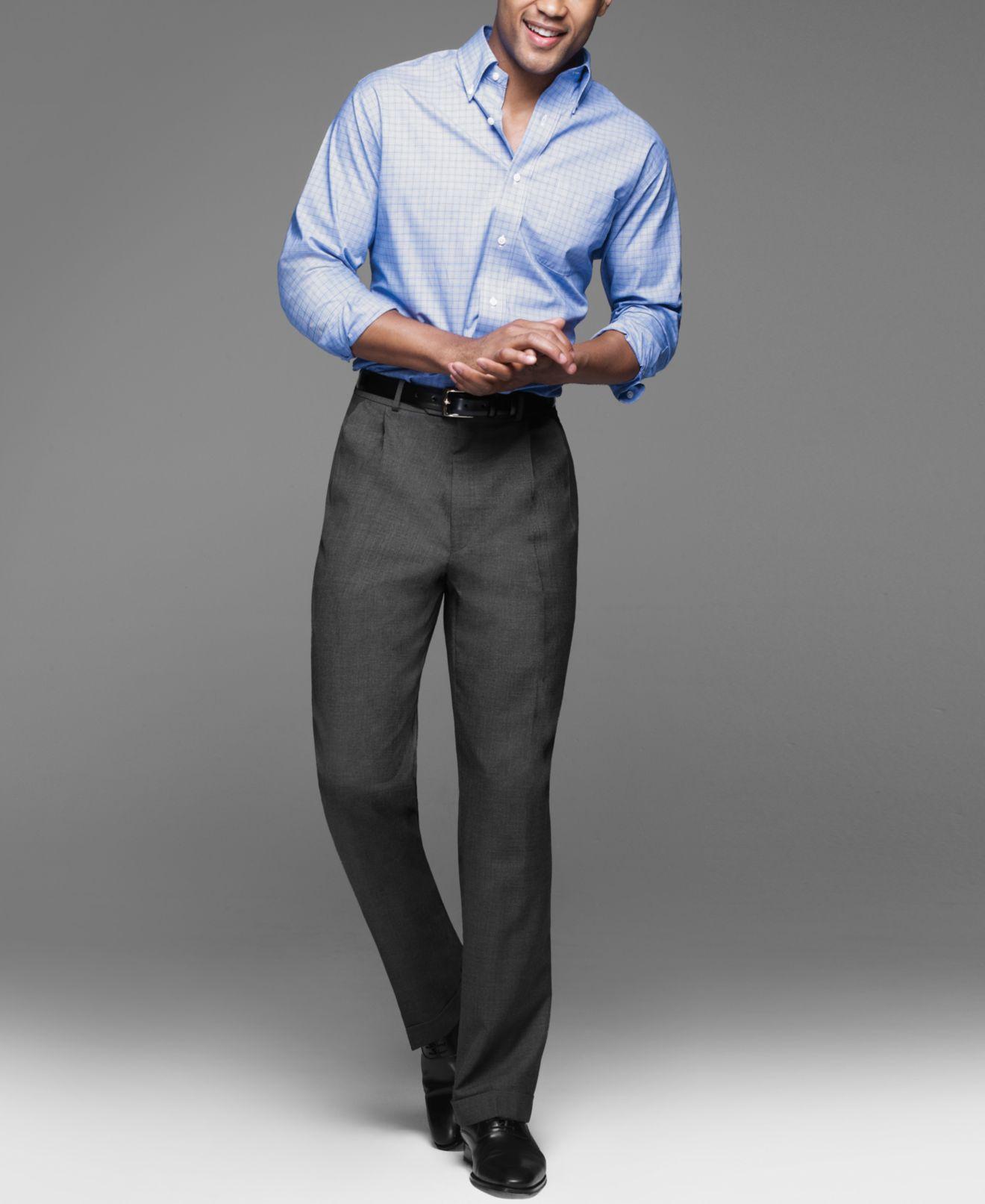 Lauren Ralph Lauren 100% Wool Dress Pants - Pants - Men - Macy's