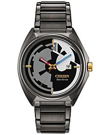 Eco-Drive Men's Star Wars Classic Black Stainless Steel Bracelet Watch 42mm