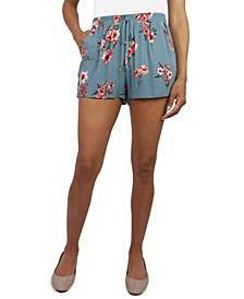 Juniors' Floral-Print Soft Shorts
