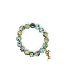 African Jasper Mermaid Bracelet