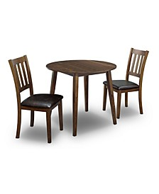 Hedgecrow 3 Piece Round Dining Table Set