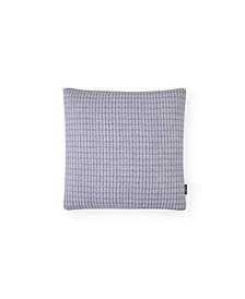 Dusk Wildflower Textured Grid Decorative Pillow