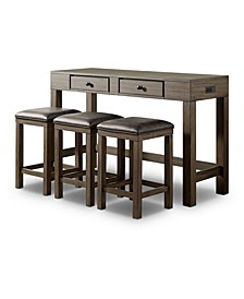 Pauley 4-Piece Counter Dining Set