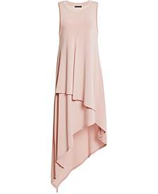 Asymmetrical-Hem Midi Dress