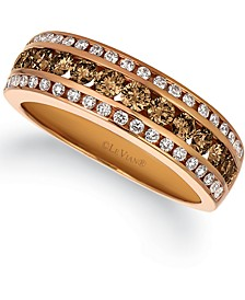 Multi-Color Diamond Ring (7/8 ct. t.w.) in 14k Rose Gold