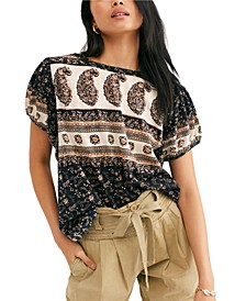 Paisley Puff-Sleeve T-Shirt