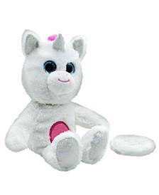 Boggles Take-Along, Chat-Back Plush, Talking Stuffed Character, White Unicorn