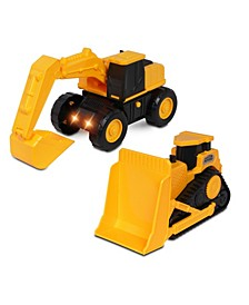 Earth Movers 2-Pack Truck Bulldozer Playset
