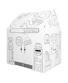 Easy Playhouse Pit Stop Garage Cardboard Playhouse