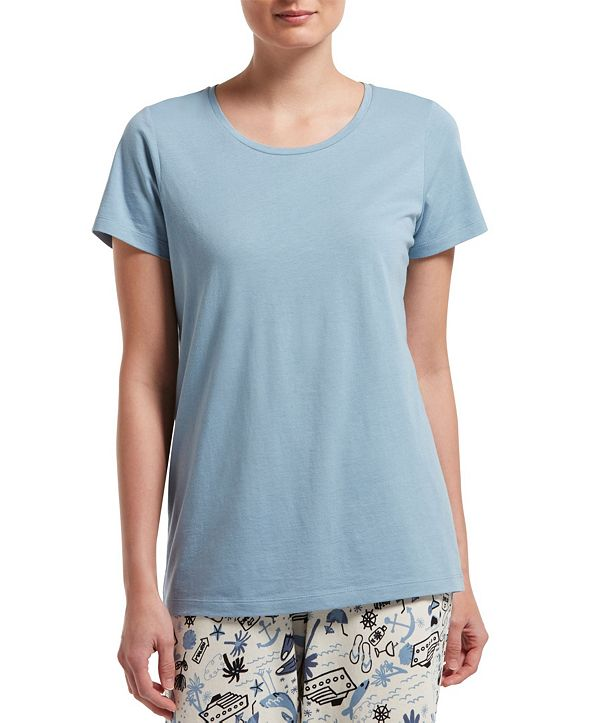 Hue Women's Short Sleeve Scoop Neck Pajama Tee
