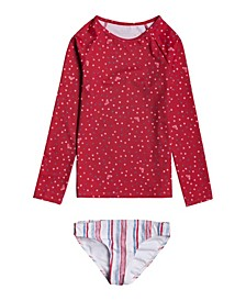 Little Girls Lake of Stars Rashguard Swim Set