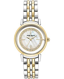 Swarovski Crystal Accented Two-Tone Bracelet Watch 32mm