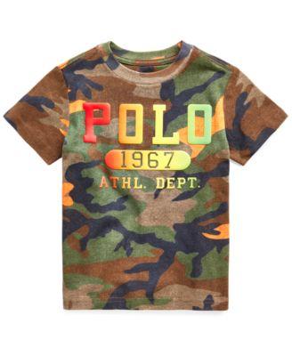 폴로 랄프로렌 남아용 반팔티 Polo Ralph Lauren Toddler Boys Camouflage T-shirt,Southern Orange Camouflage