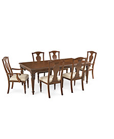 Orle Dining Furniture, 7 pc Set  (Dining Table & 4 Side Chairs & 2 Arm Chairs), Created for Macy's