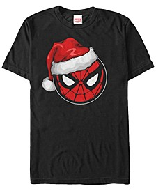 Men's Marvel Spider-Man Santa Hat Short Sleeve T-shirt