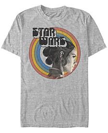 Men's Star Wars The Rise of Skywalker Rey Vintage-Like Rainbow Short Sleeve T-shirt