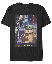 Men's Star Wars The Mandalorian The Child Trading Card Short Sleeve T-shirt