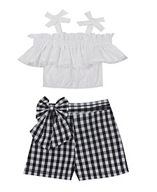 Toddler Girls Knit Top and Short Set