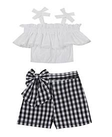 Little Girls Knit Top and Short Set