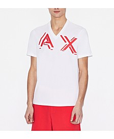 Men's V-Neck AX 3-D Logo T-shirt