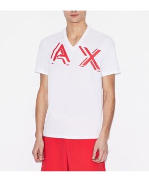 Men's V-Neck Ax 3-d Logo T-shirt