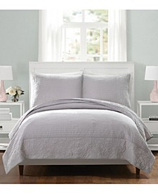 Laos Lily Full/Queen Coverlet - Gray
