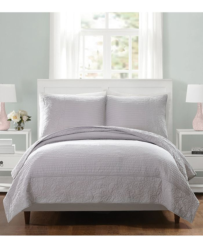 Jessica Simpson - Laos Lily Full/Queen Coverlet - Gray