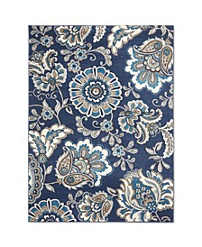"Haven Hav08 Navy 9'2"" x 12'5"" Area Rug"