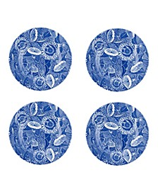 Blue Room Sunflower Salad Plates, Set of 4