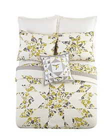 Hummingbird Blooms Star Quilted Bedding