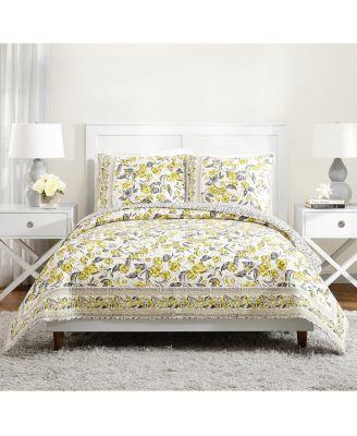 Vera Bradley Hummingbird Blooms Yellow Full/Queen Quilt