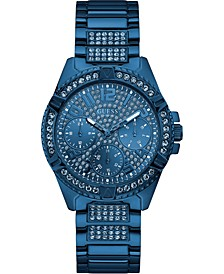 Unisex Blue Stainless Steel Bracelet Watch 40mm