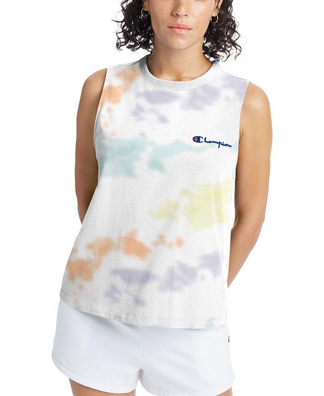Champion Women's Cotton The Boyfriend Tie-Dyed Tank Top