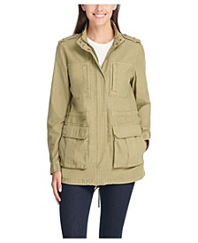 Stand Collar Cotton Anorak Jacket