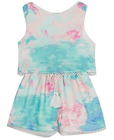 Baby Girls Tie-Dyed Popover Romper