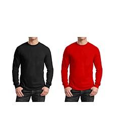 Men's 2-Pack Egyptian Cotton-Blend Long Sleeve Crew Neck Tee