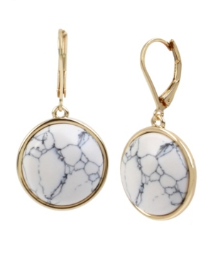 Kenneth Cole New York Gold-Tone Cabochon Drop Earrings